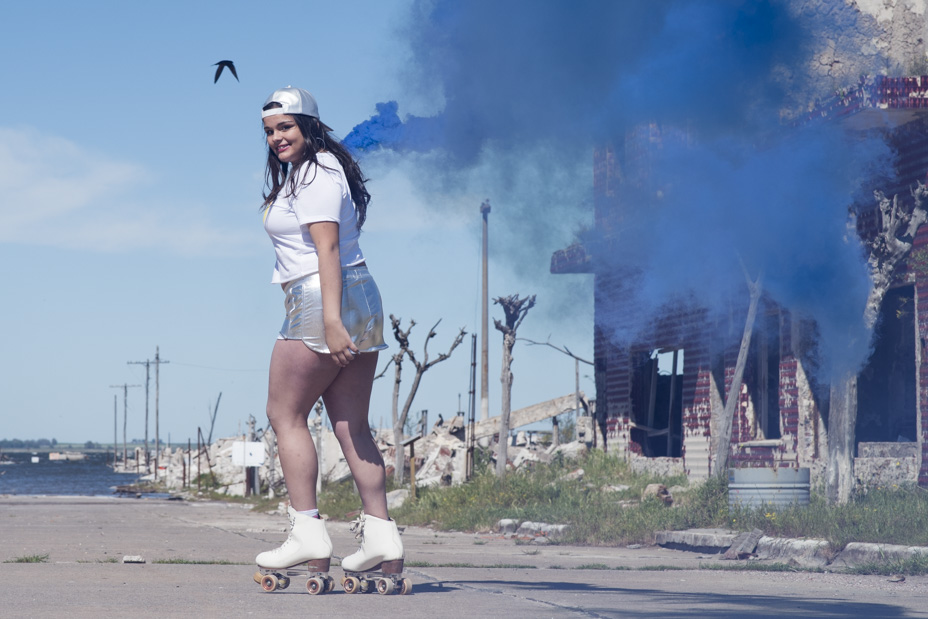 Photography production for the 15 years of Jimena in the ruins of Epecuen by Bruno Espeche